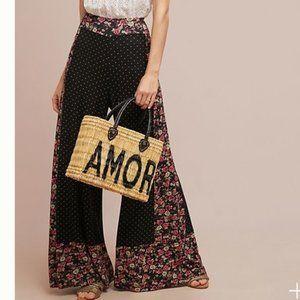 FARM RIO x Anthropologie Floral Wide Leg Pant